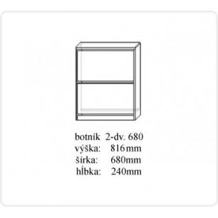 Botník 2 dverový č.680