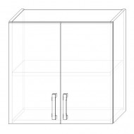 39. H60-2dv – skrinka horná 2-dverová 600