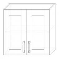 40. H60S – skrinka horná 2-dverová 600 presklená