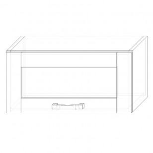 42. H60VS – skrinka horná 1-dverová 600 výklopná presklená