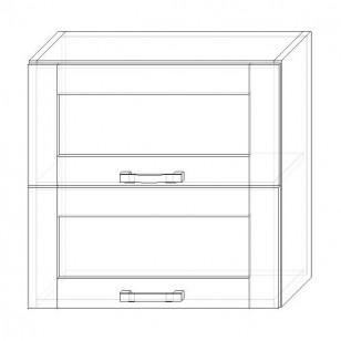 44. H60-2dv-V – skrinka horná 2-dver. 600 výklopná presklená