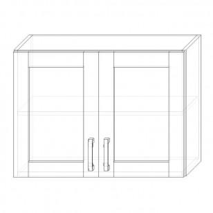 49. H80S – skrinka horná 2-dverová 800 presklená