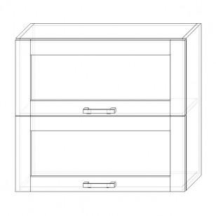 53. H80-2dv-V – skrinka horná 2-dver. 800 výklopná presklená