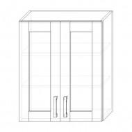 72. H60S – skrinka horná 2-dverová 600 presklená