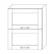 76. H60-2dv-V – skrinka horná 2-dver. 600 výklopná presklená