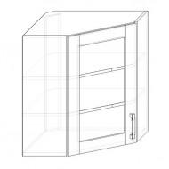 80. H60R-S - skrinka horná 1-dverová rohová 600 presklená