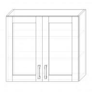 82. H80S – skrinka horná 2-dverová 800 presklená