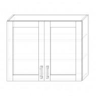 88. H90S – skrinka horná 2-dverová 900 presklená