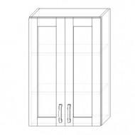 106. H60S – skrinka horná 2-dverová 600 presklená
