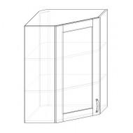 113. H60R-S - skrinka horná 1-dverová rohová 600 presklená