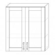 115. H80S – skrinka horná 2-dverová 800 presklená