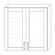 121. H90S – skrinka horná 2-dverová 900 presklená