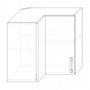 46/A H60R - skrinka horná 2-dverová rohová 600