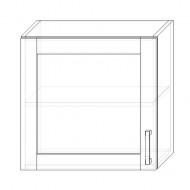 40/A skrinka horná 1-dverová 600 presklenná P+L